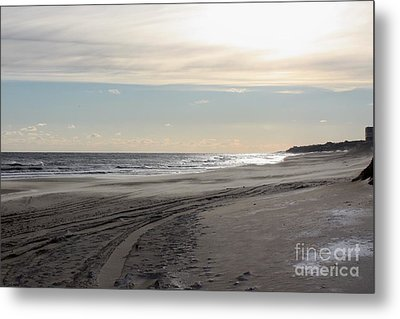 Sunset Over Atlantic Ocean In Montauk Metal Print by John Telfer