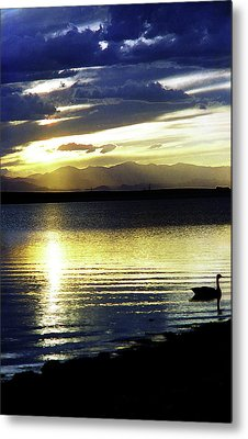 Sunset Over Aurora Metal Print