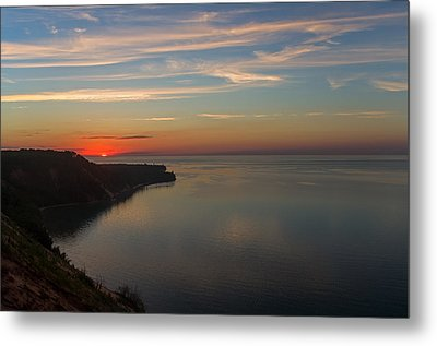 Sunset Over Ausable Point. Metal Print
