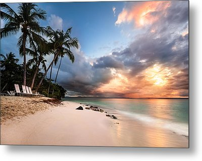 Metal Print featuring the photograph Sunset Over Bacardi Island by Mihai Andritoiu