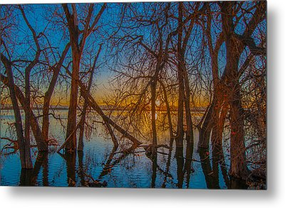 Sunset Over Barr Lake_2 Metal Print