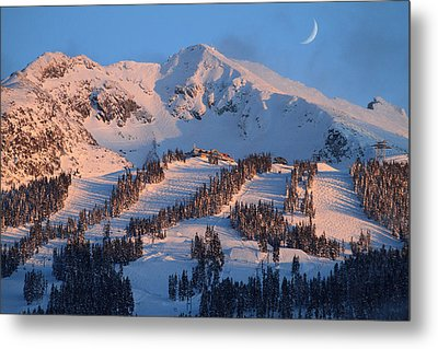 Sunset Over Blackcomb Mountain Metal Print