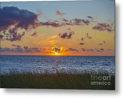 Sunset Over Cape Cod Bay Metal Print by Diane Diederich