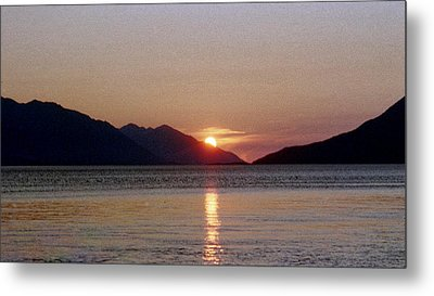 Sunset Over Cook Inlet Alaska Metal Print