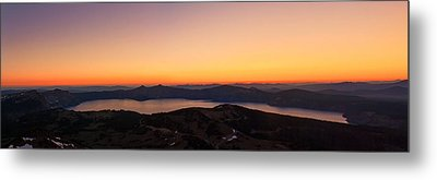 Sunset Over Crater Lake Metal Print by Jaime Weatherford