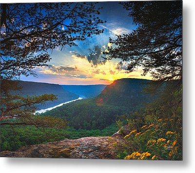 Sunset Over Edwards Point Metal Print