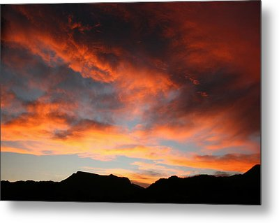 Sunset Over Estes Park Metal Print