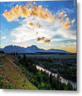 Sunset Over Grand Teton National Park Metal Print by Babak Tafreshi