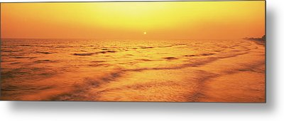 Sunset Over Gulf Of Mexico, Panama City Metal Print by Panoramic Images