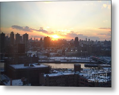 Sunset Over Harlem Metal Print