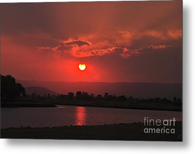 Sunset Over Hope Island Metal Print