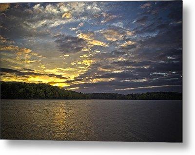 Sunset Over Kerr Lake Metal Print