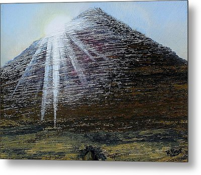 Sunset Over Khufu Metal Print