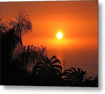 Sunset Over Kona Hawaii Metal Print by Sabine Edrissi