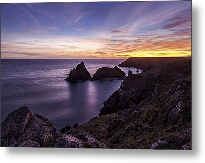 Sunset Over Kynance Cove Metal Print