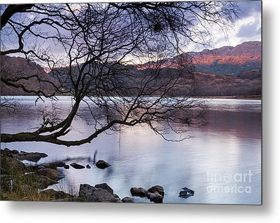 Sunset Over Lake Dinas Metal Print by Trevor Chriss