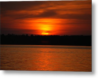 Sunset Over Lake Martin Metal Print