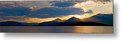 Sunset Over Lake Pend Oreille Metal Print by Marie-Dominique Verdier