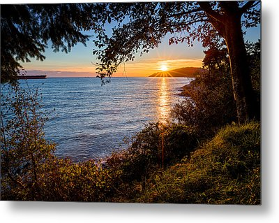 Sunset Over Lighthouse Park Metal Print by Alexis Birkill