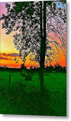 Sunset Over M-33 Metal Print by Daniel Thompson