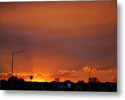 Metal Print featuring the photograph Sunset Over Madison by Ramona Whiteaker