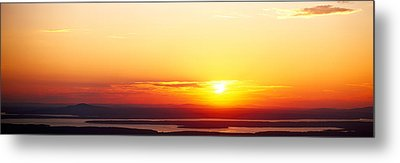 Sunset Over Mountain Range, Cadillac Metal Print by Panoramic Images
