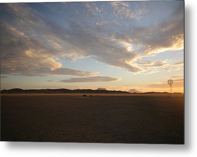 Metal Print featuring the photograph Sunset Over Namibia by Riana Van Staden