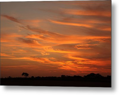 Sunset Over North Norfolk Metal Print by Paul Lilley