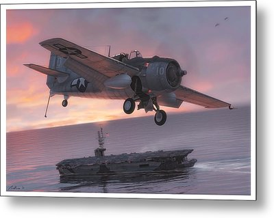 Sunset Over Ommaney Bay Metal Print by Hangar B Productions