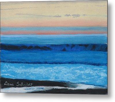 Sunset Over Pacfic Ocean Surf Metal Print