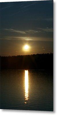 Sunset Over Pickerel River Sun 91 Metal Print by G L Sarti