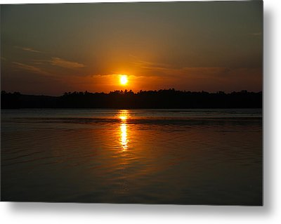 Sunset Over Rice Lake Metal Print by James Hammen