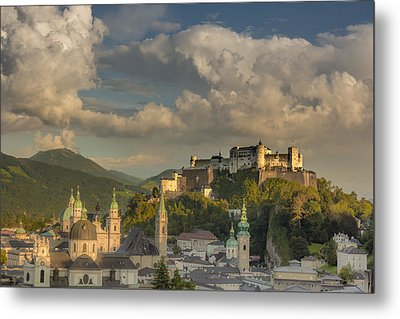 Sunset Over Salzburg Metal Print