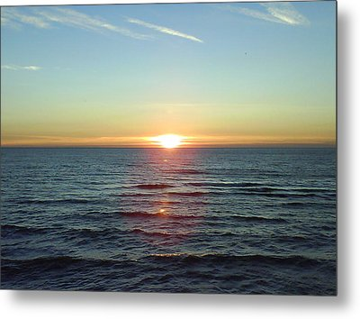 Sunset Over Sea Metal Print by Gordon Auld