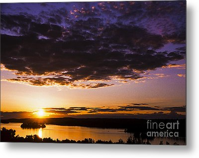 Sunset Over Shagawa Lake Metal Print by Thomas R Fletcher