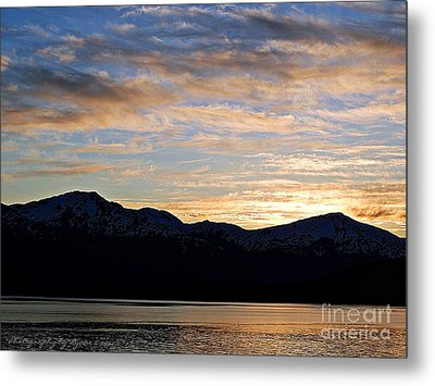 Sunset Over Skagway Ak Metal Print by Gena Weiser