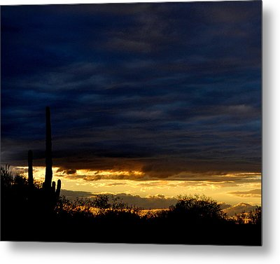 Sunset Over Sonoran Desert Metal Print by Jon Van Gilder