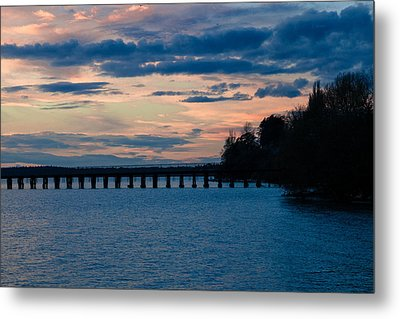 Sunset Over Squalicum Bay Metal Print