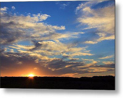 Sunset Over Texas Metal Print by Elizabeth Budd