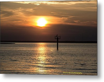 Sunset Over The Bay Metal Print