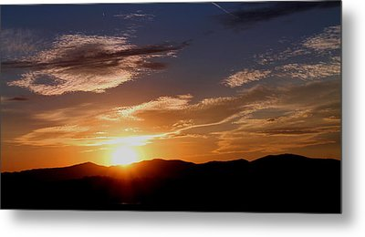 Metal Print featuring the photograph Sunset Over The Blue Ridge by Candice Trimble