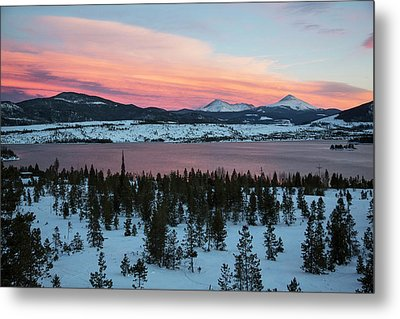 Sunset Over The Dillon Reservoir Metal Print by Jim West