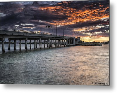 Sunset Over The Drawbridge Metal Print