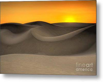 Sunset Over The Dunes Metal Print