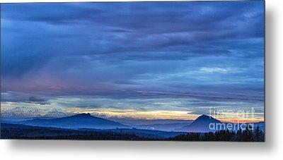Sunset Over The European Alps Metal Print by Bernd Laeschke