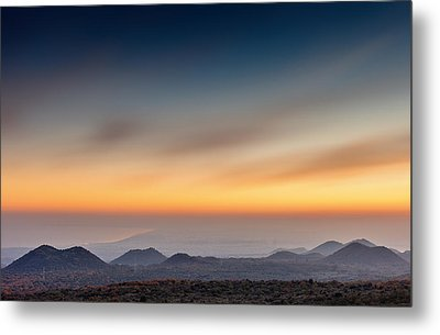 Sunset Over The Gulf Metal Print
