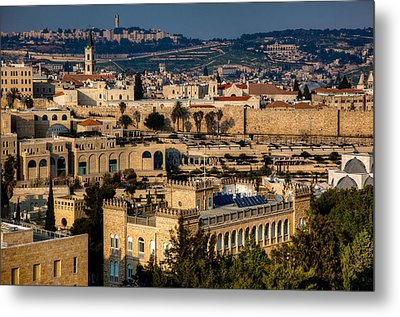 Metal Print featuring the photograph Sunset Over The Holy City by Uri Baruch
