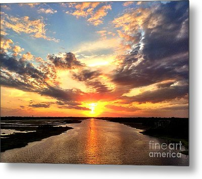 Sunset Over The Icw Metal Print