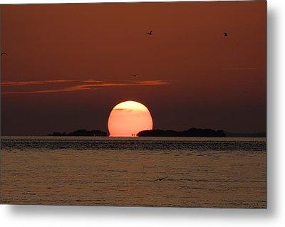 Sunset Over The Keys Metal Print