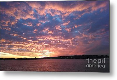 Sunset Over The Narrows Waterway Metal Print by John Telfer